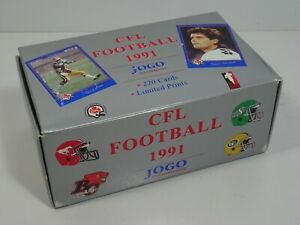 1991-JOGO-CANADIAN-FOOTBALL-TRADING-CARD-LOT-CFL-220-Cards-Limited-Prints