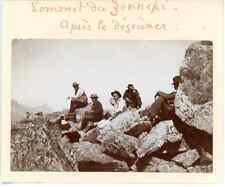 France, Sommet du Génépi (Mont Blanc) Vintage citrate print.  Tirage citrate