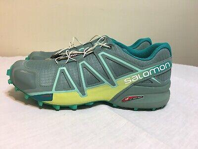 Details about Salomon Speed Cross Speedcross 4 Trail Running Shoes GrayLime Mens 9.5 145464