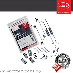 Genuine OE Quality Apec Rear Brake Shoe Accessory Kit - KIT2072