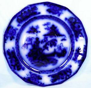Antique-Pelew-Flow-Blue-Dinner-Plate-E-Challinor-Ironstone-Charger-A-Beauty