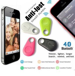 4pcs Bluetooth Smart Tag Finder Tracer Child Pet GPS Locator Alarm Key Tracker