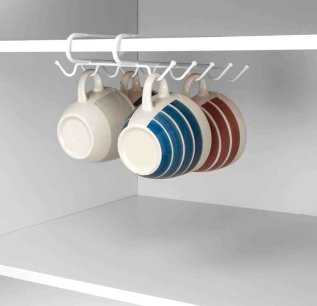 Home Basics NEW Under the Shelf Mug Rack Holder Organizer CH41212