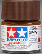 TAMIYA COLOR ACRYLIC XF-79 Linoleum Deck Brown MODEL KIT PAINT 10ml NEW