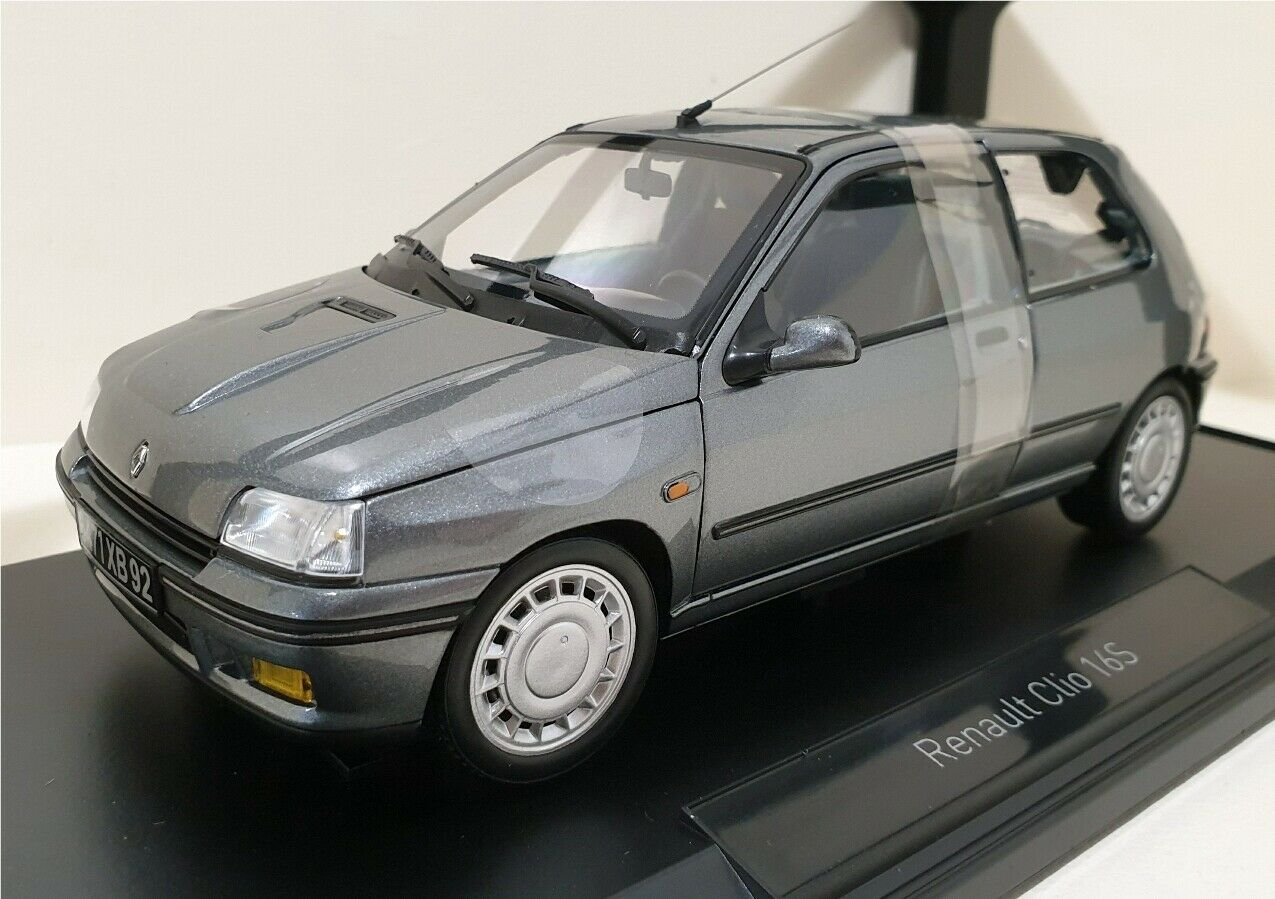 NOREV 118 Renault Clio 16S 1991 Tungstene grigio