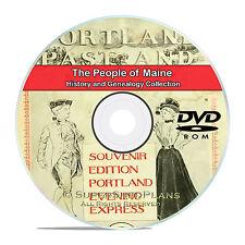 Maine ME, People, Civil War, Family Tree History Genealogy 121 Books DVD CD B04