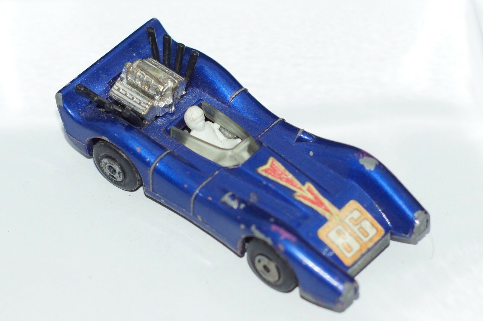 ORIGINAL MatchBox Superfast Blau Shark No 61 - Blau Farbe 86 - Lesney - England