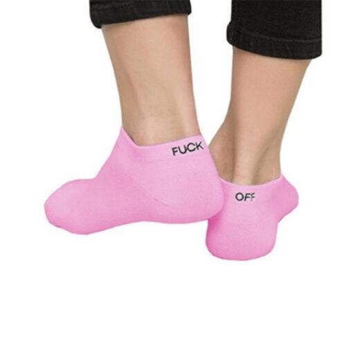 New Mens Womens Fuck-off Design Print Funny Unisex Knit Winter Warm Sport Socks