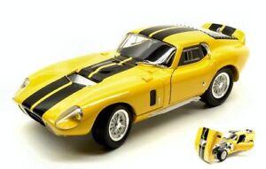 Shelby-Cobra-Daytona-Coupe-039-1965-Yellow-W-Black-Stripes-1-18-Model
