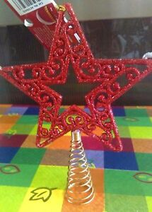 FESTIVE GLITTER SHINY STAR SHAPED CHRISTMAS TREE XMAS DECORATION TOPPER TOP 17CM - Bradford, West Yorkshire, United Kingdom - FESTIVE GLITTER SHINY STAR SHAPED CHRISTMAS TREE XMAS DECORATION TOPPER TOP 17CM - Bradford, West Yorkshire, United Kingdom