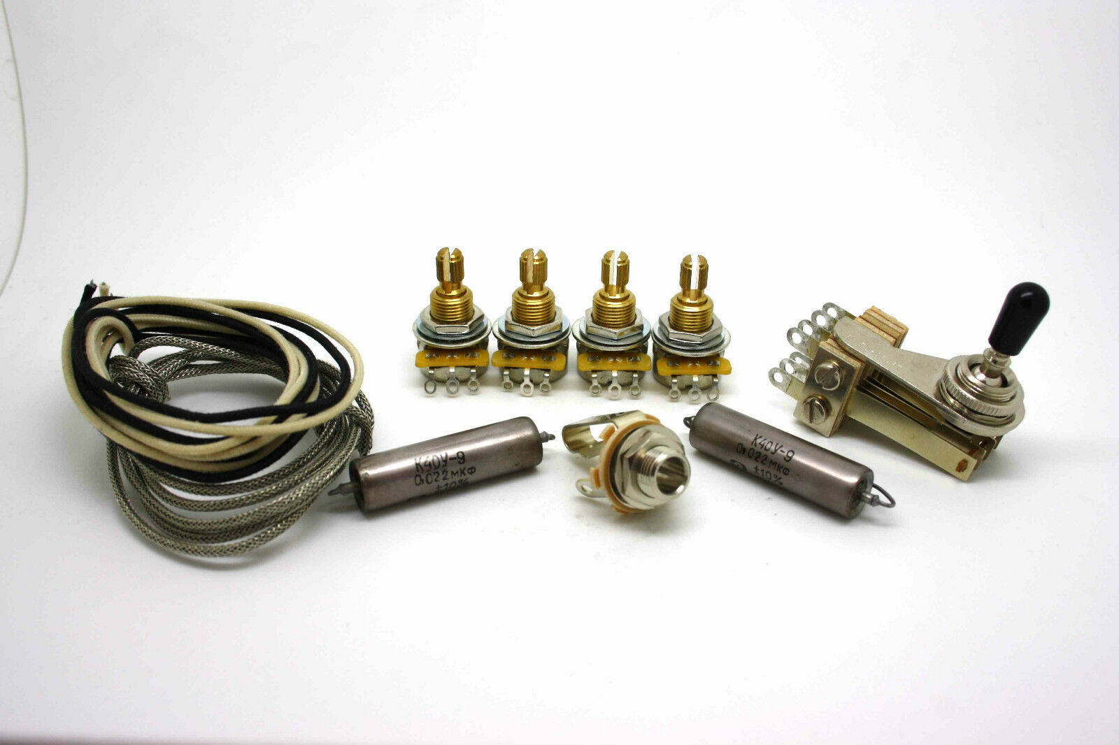 DELUXE VINTAGE WIRING KIT GIBSON EDS-1275 DOUBLE NECK WITH K40Y-9 CAPACITORS
