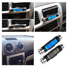 Car-Auto-LED-Digital- Vent-Clock-Thermometer-Indoor-Outdoor-Temperature-Voltage