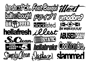 17 Stickers,You Choose Color JDM Mega Sticker Pack Stance Low Vinyl Decals