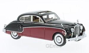 NEO-49549-Jaguar-MK-8-rouge-noir-volant-a-droite-1955-1-43