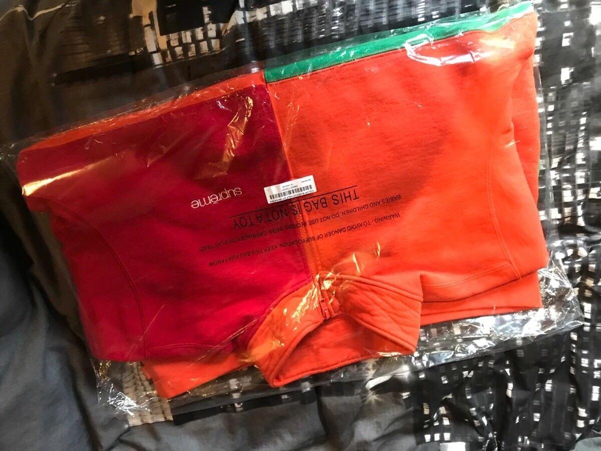 Supreme Farbe Blocked Half Zip schweißhemd - Dark Orange (Medium)