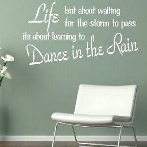 Life-Waiting-Motivational-Quote-Wall-Decal-Inspirational-Wall-Quotes-QU62