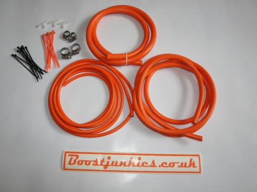 Universal Silicone Vacuum Hose Engine Dress Up Kit in Orange