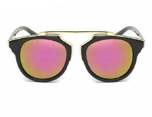 Lovely Modern Black Mirrored Pink Orange Reflective Sunglasses Fast Shipping