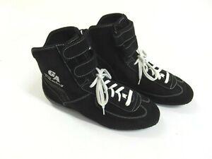 Chaussures-de-Kart-Ga-Racing-Cuir-Velours-Noir-Gr-40