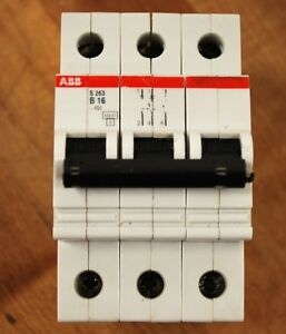 ABB-S-263-B-16-3-Pole-Circuit-Breaker-USED