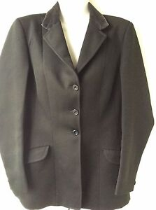 ROSSETTE by MATLOCK amp BROWN ladies black velvet collar show jacket size 12 - Leigh-on-Sea, United Kingdom - ROSSETTE by MATLOCK amp BROWN ladies black velvet collar show jacket size 12 - Leigh-on-Sea, United Kingdom