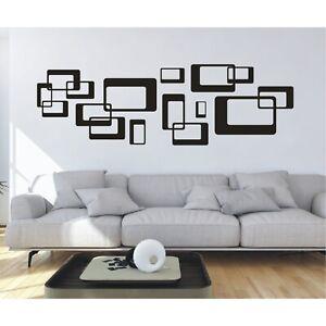 Wandtattoo-Ornament-Retro-Quadrate-Cubes-Wandsticker-Wandaufkleber-Sticker1