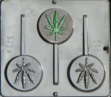 Marijuana Leaf Pot Leaf Lollipop Chocolate Candy Mold Canibus  3427 NEW