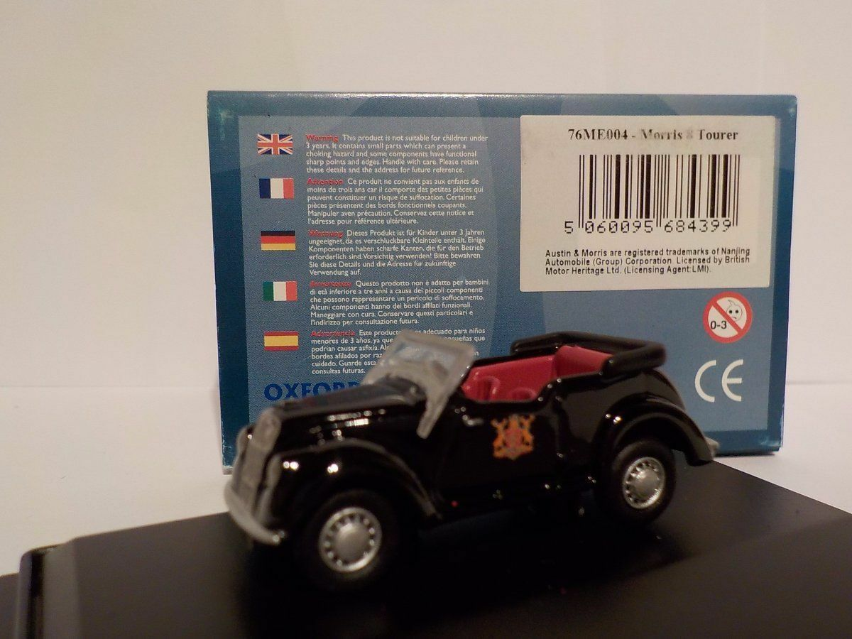 Morris 8 TOURER NERO 1:76 Oxford Diecast Diecast Diecast Modello Auto INGLESI 031ffc
