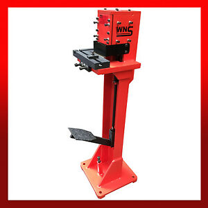 Details about WNS Hand Sheet Metal Foot Operated Treadle Corner Notcher /  Right Angle Cutter