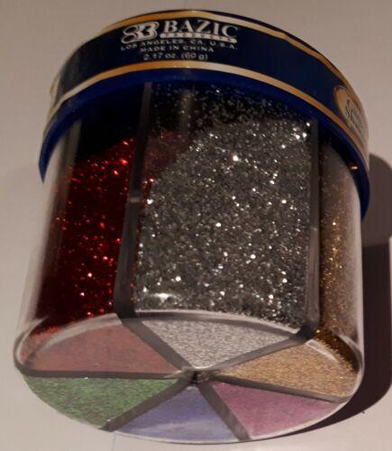 BAZIC 6 Colour Fine Glitter Shaker