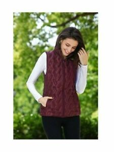 TANGERINE-Women-039-s-Burgundy-Vest-Quilted-Light-Weight-Jacket-Size-2X-Large