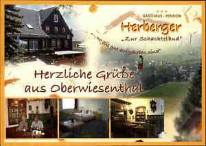 OBERWIESENTHAL-Mehrbild-AK-Gasthaus-Pension-Herberger-Zur-Schachtelbud-Gasthof