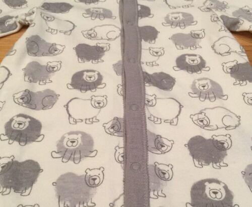 White /& Gray Bear Romper Baby Gap Boys 6-9 Months One-Piece Romper Nwt