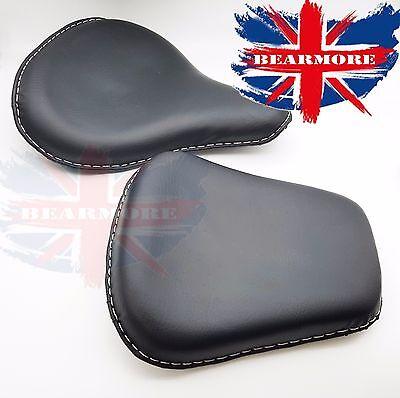 Lycett Black Leather Front /& Rear Seat Komplett Royal Enfield Ariel Triumph Bsa