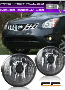For 11 13 Nissan Rogue Clear Lens Replacement Fog Light