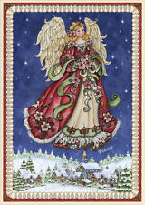 Angel in Blue Sky - Box of 16 Christmas Cards by LPG Greetings