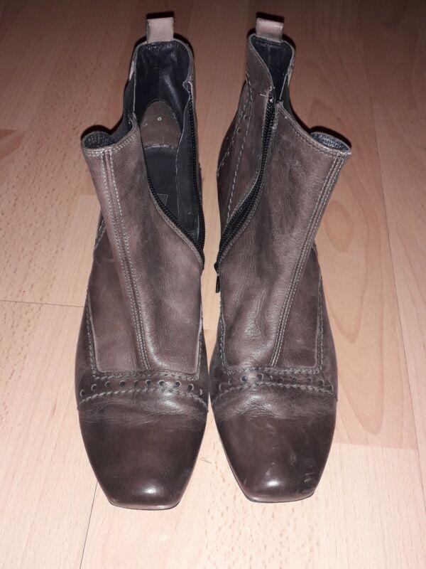 100% QualitäT Paul Green 6 (39) Stiefeletten Grau Taupe Schwarz Schuhe Halbschuhe Top Zustand