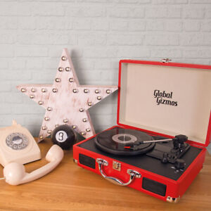 Briefcase-Record-Player-Suitcase-Vinyl-3-Speed-Turntable-Bluetooth-Speakers