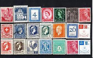 Lote-sellos-del-mundo-distintos-valores-en-diferentes-estados