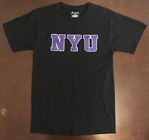 Image is loading Champion-NYU-New-York-University-T-Shirt 06fc180b824