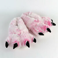 Pink Tiger Paw Slippers - Cat Animal Feet Slippers