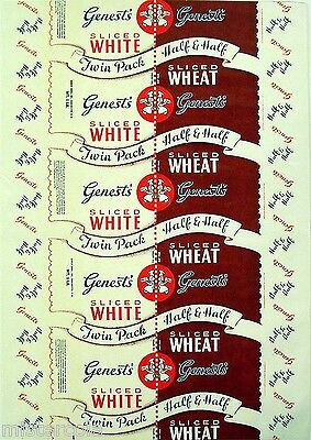Vintage bread wrapper NATIONAL WHOLE WHEAT Chicago Illinois unused new old stock