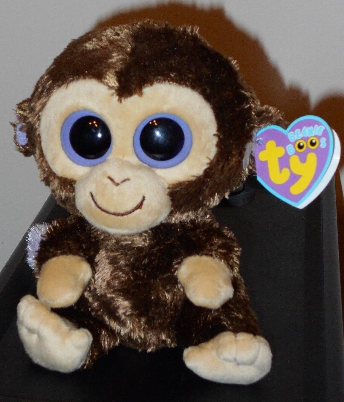 NMT Ty Beanie Boos  COCONUT the 6  Monkey (1st Gen 2009 LOOPED Tush Tag) MWNMT