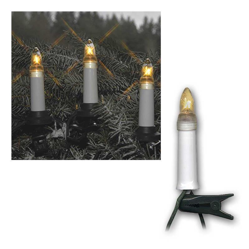 DEL Bougies Chaîne Outdoor Guirlande Noël lumineuse éclairage Noël Guirlande 16/25 topkerzen e10 5e7d5a