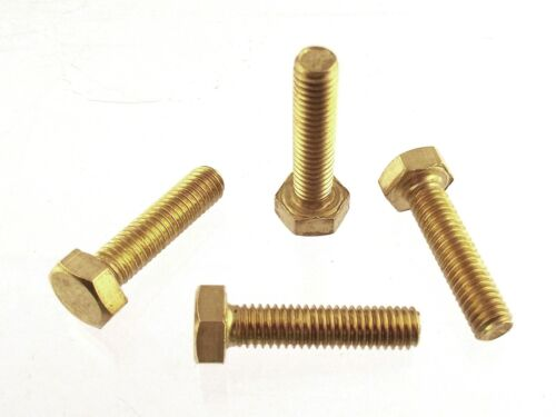 100 viti Ottone Testa Esagonale M3x20 UNI5739 brass hex screws Messingschrauben