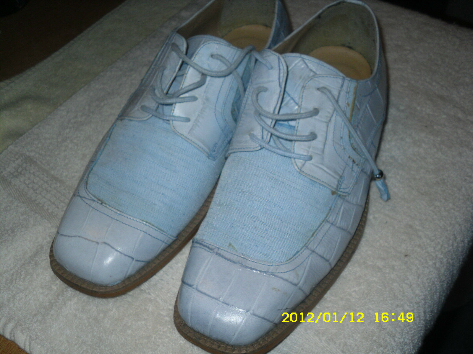 Donato brown 10  Baby bluee Oxfords Lace up Leather Upper Pre-owned