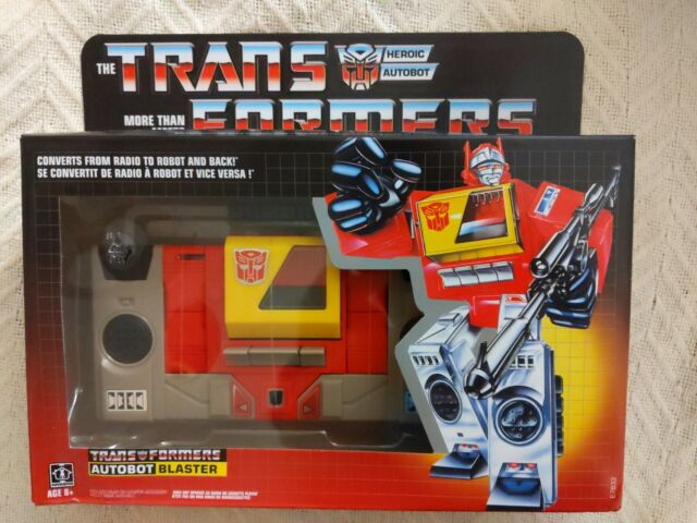 Transformers G1 Autobot Blaster Action Figure Hasbro Wal-Mart - New box 90-95%