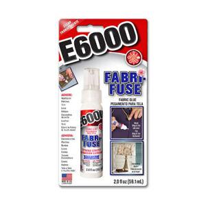 E6000 Fabri-Fuse Stoff Kleber 59.1ml Klar Waschbar Flexibel - Bling Repair Patch