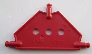 K'NEX Tri Panel Small RED 1 Piece- - 3 HOLES   KNEX - PANELS