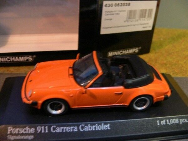 1 43 MINICHAMPS PORSCHE 911 Carrera Cabriolet 1983 Orange 430 062038